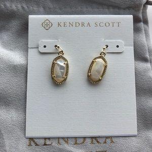 Kendra Scott Lee Earrings - gold mother of pearl